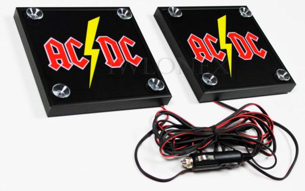 ACDC 2 600x377 - 1 Paar LKW LED Leuchtschilder 24V
