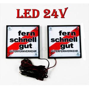 FSG 1 glowne 300x300 - 1 Paar LKW LED Leuchtschilder 24V Fern Schnell Gut