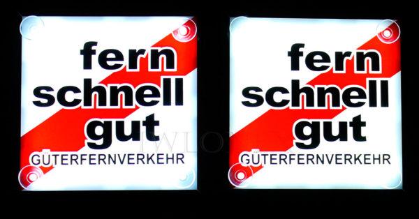 FSG 3 600x314 - 1 Paar LKW LED Leuchtschilder 24V Fern Schnell Gut