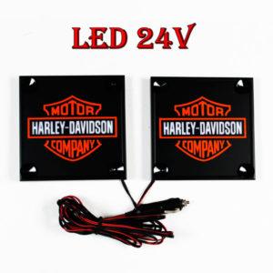 Harley Davidson bialo pomaranczowy 1 glowne 300x300 - 1 Paar LKW LED Leuchtschilder 24V  Harley-Davidson