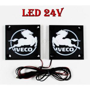 IVECO biale 1 glowne 300x300 - 1 Paar LKW LED Leuchtschilder 24V für Iveco