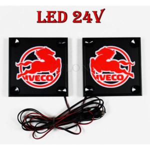 IVECO bialo czerwone 1 glowne 300x300 - 1 Paar LKW LED Leuchtschilder 24V für Iveco