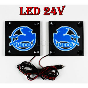 IVECO bialo niebieskie 1 glowne 300x300 - 1 Paar LKW LED Leuchtschilder 24V für Iveco