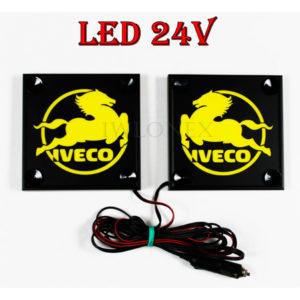 IVECO zolte 1 glowne 300x300 - 1 Paar LKW LED Leuchtschilder 24V für Iveco