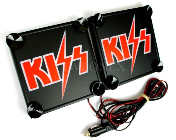 Kiss 2 600x478 - 1 Paar LKW LED Leuchtschilder 24V Kiss