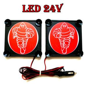 Michelin bialo czerwony 1 glowne 300x300 - 1 Paar LKW LED Leuchtschilder 24V Michelin