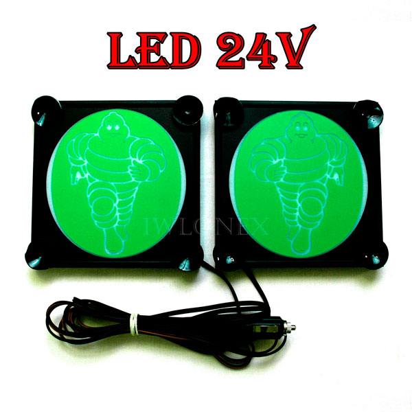 Michelin bialo zielony 1 glowne - 1 Paar LKW LED Leuchtschilder 24V Michelin
