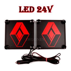 RENAULT czerwony 1 glowne 300x300 - 1 Paar LKW LED Leuchtschilder 24V für Renault