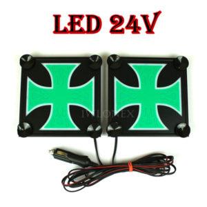 krzyz bialo zielony 1 glowne 300x300 - 1 Paar LKW LED Leuchtschilder 24V Kreuz
