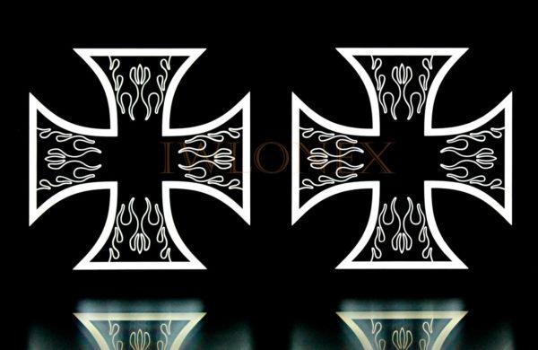 krzyz bialy 3 600x390 - 1 Paar LKW LED Leuchtschilder 24V Kreuz