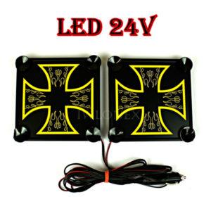 krzyz zolty 1 glowne 300x300 - 1 Paar LKW LED Leuchtschilder 24V Kreuz