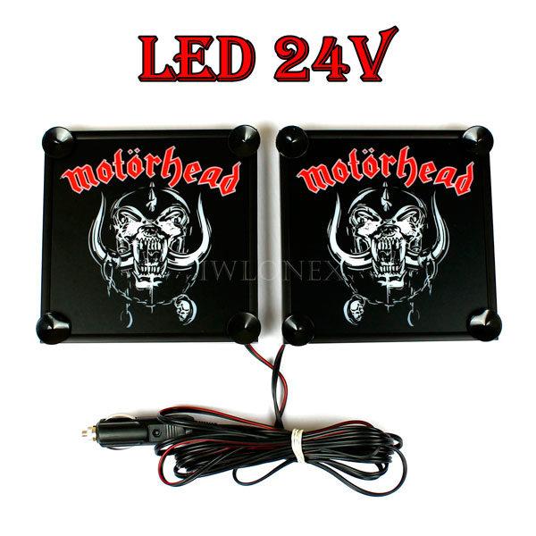 motorhead 1 glowne 600x600 - 1 Paar LKW LED Leuchtschilder 24V Motörhead
