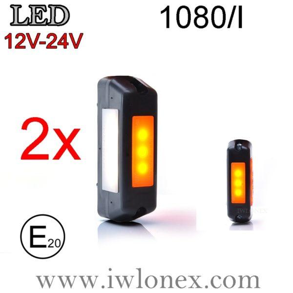 1080 iwlonex 600x600 - 2x LED Umrissleuchten/Seitenmarkierungsleuchten 1080/I