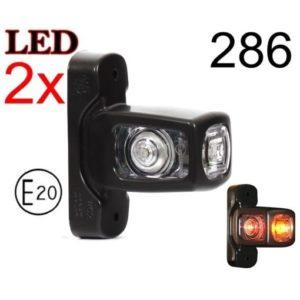 286 1 GLOWNE 300x300 - 2x LED 12V 24V ABE BEGRENZUNGSLEUCHTE 286