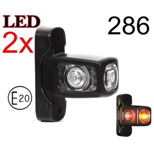 286 1 GLOWNE - 2x LED 12V 24V ABE BEGRENZUNGSLEUCHTE 286