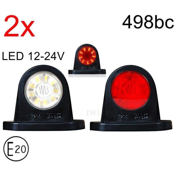 498bc 1 GLOWNE 600x588 - 2x LED 12V 24V ABE BEGRENZUNGSLEUCHTE 498bc
