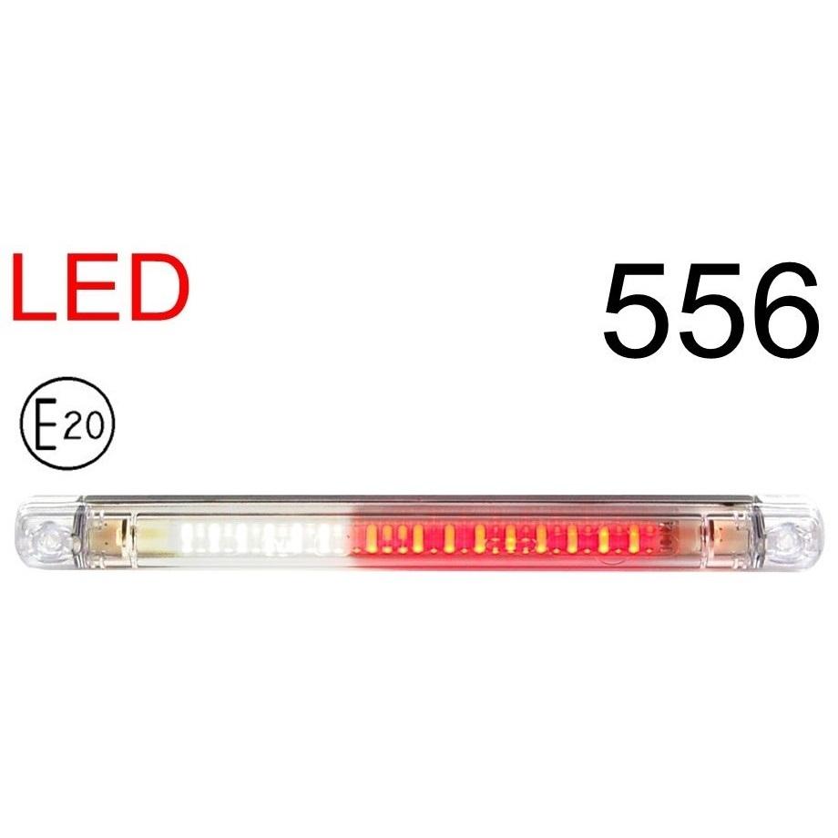 556 1 GLOWNE - 1x LED E20 ABE RÜCKFAHRSCHEINWERFER NEBELSCHLUSSLEUCHTE 556