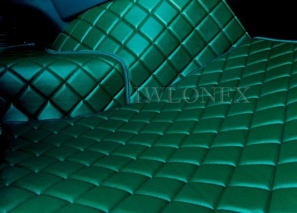 DAF105 ZIELONY 4 600x430 - Links/Rechts Fußmatten für DAF XF105 Automatik Grün