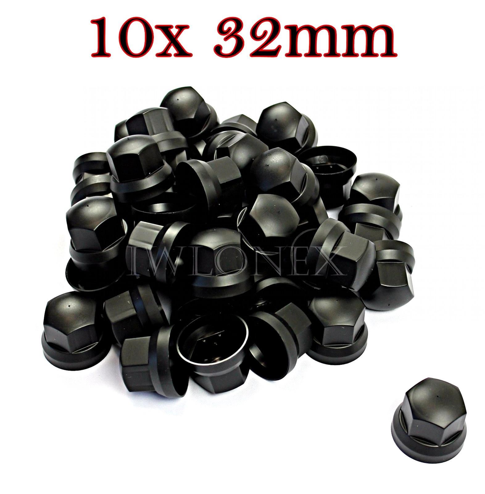 1 8 - 10x RADMUTTERKAPPEN Kunststoff 32mm, Höhe 43mm
