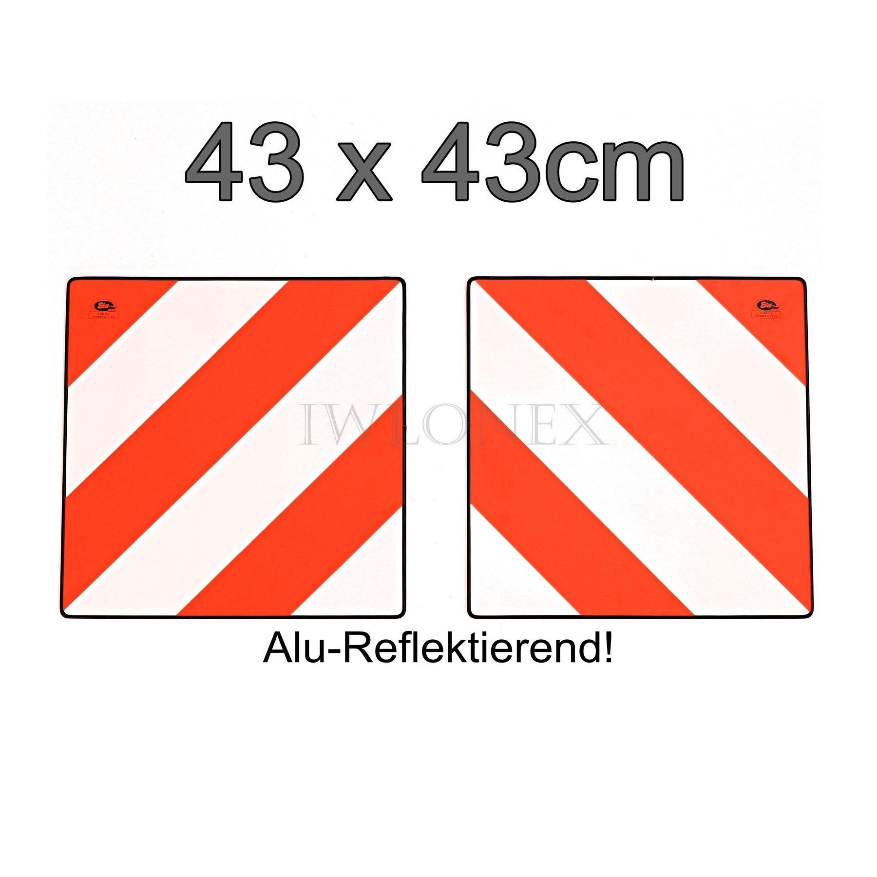 s l1600 12 - 2x WARNSCHILD ALU REFLEKTIEREND HECKMARKIERUNG