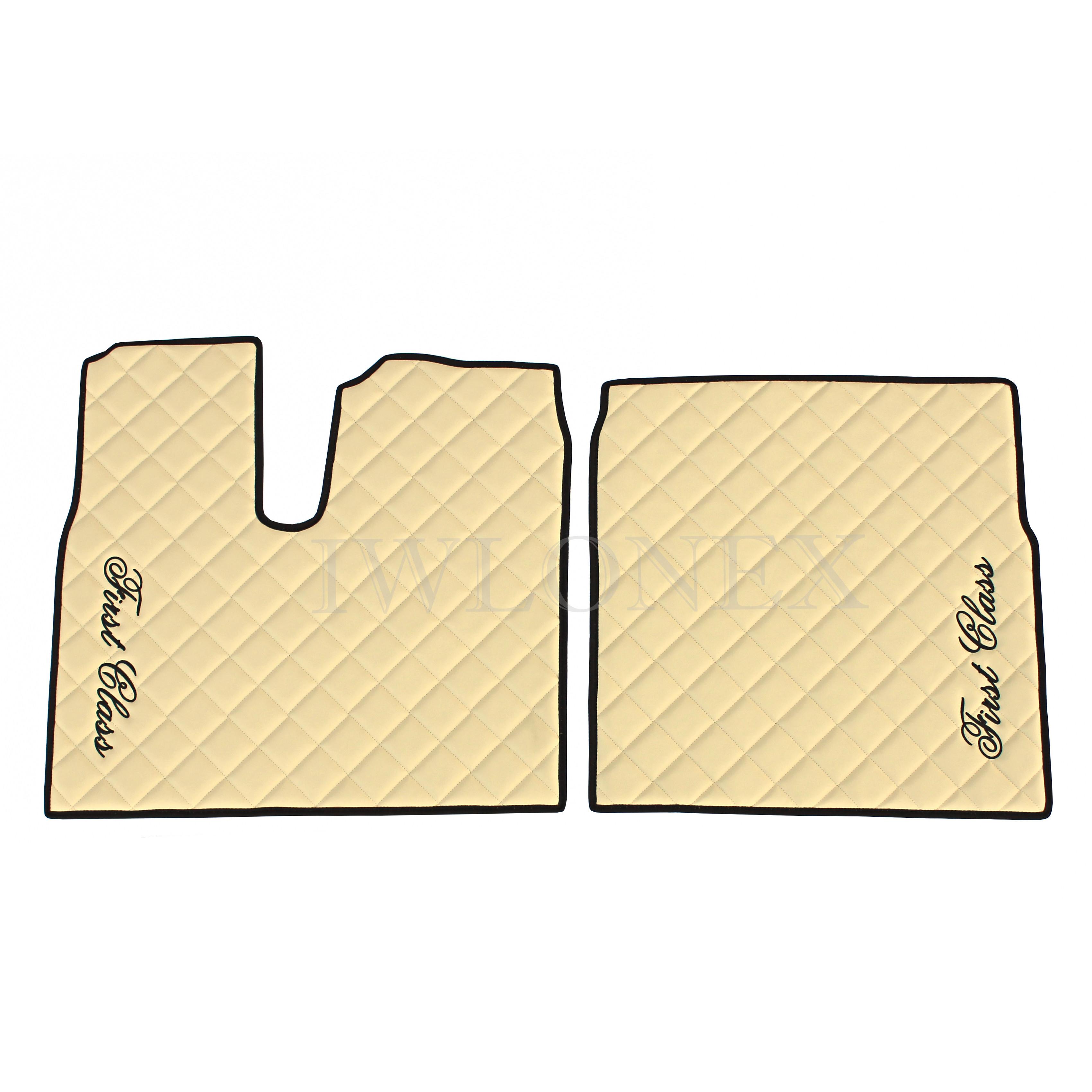 Fußmatten für MAN TGX Automatik Beige Links/Rechts