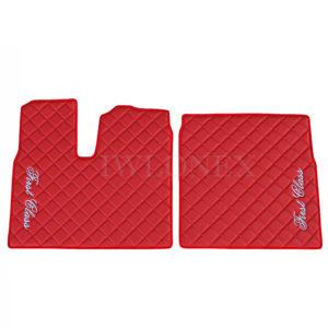 Fußmatten für MAN TGX Automatik Rot Links/Rechts