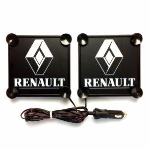 renault napis bialy 1 300x300 - 1 Paar LKW LED Leuchtschilder 24V für RENAULT