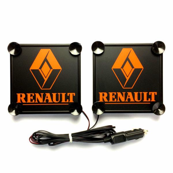 renault napis pomarancz 1 600x600 - 1 Paar LKW LED Leuchtschilder 24V für RENAULT