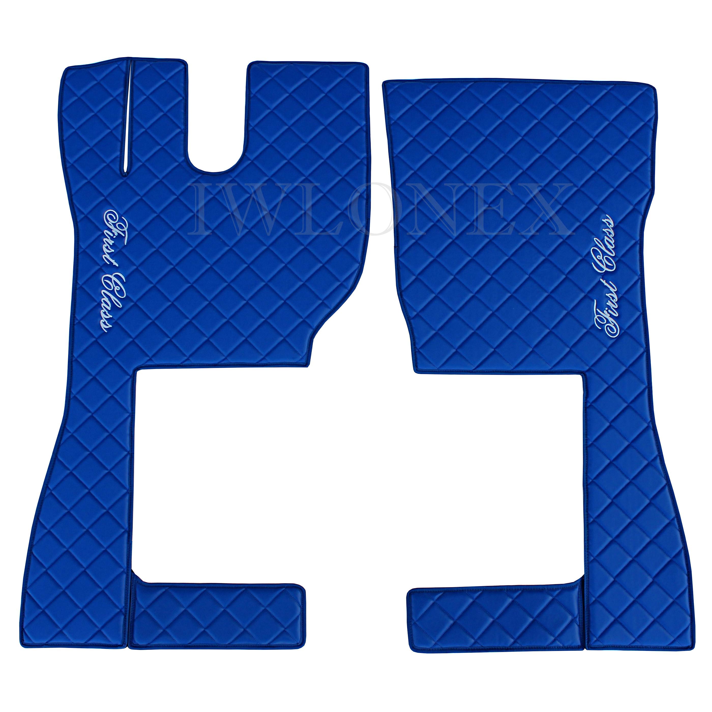 volvo fh4 niebieskie 3ok - L/R Fußmatten passend für VOLVO FH4 Automatik Blau