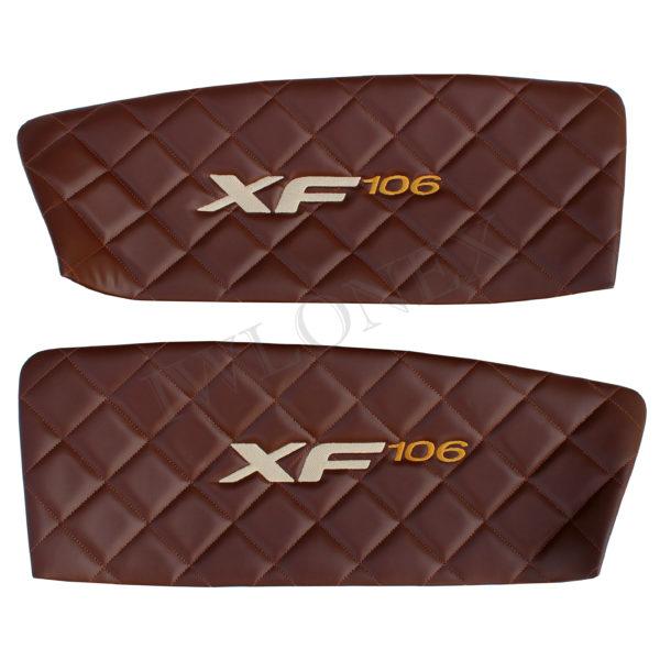 Turverkleidung DAF106 Dunkelbraun 600x600 - Schranktürverkleidung passend für DAF XF EURO6 SSC - Marmor - deine Farben