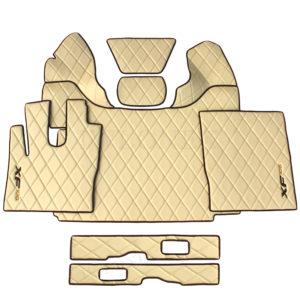 Fussmatten DAF106 Raute Beige 6 300x300 - Fußmatten für DAF XF106 E6 460 u. 510PS Automatik Beige + Sitzsockelverkleidung