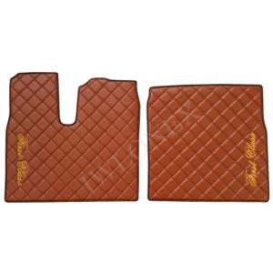 Fussmatten MAN Braun Gold Stickerei 1 300x300 - Links/Rechts Fußmatten für MAN TGX Braun mit Stickerei