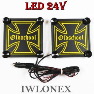 IMG 8617 300x300 - 1 Paar LKW LED Leuchtschilder 24V Eiserne Kreuz
