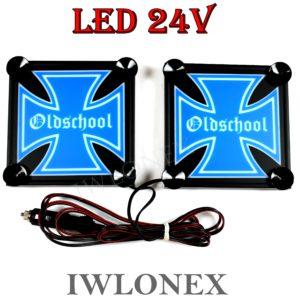 IMG 8622 300x300 - 1 Paar LKW LED Leuchtschilder 24V Eiserne Kreuz 15x15cm