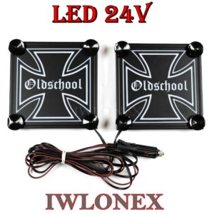 IMG 8625 300x300 - 1 Paar LKW LED Leuchtschilder 24V Eiserne Kreuz