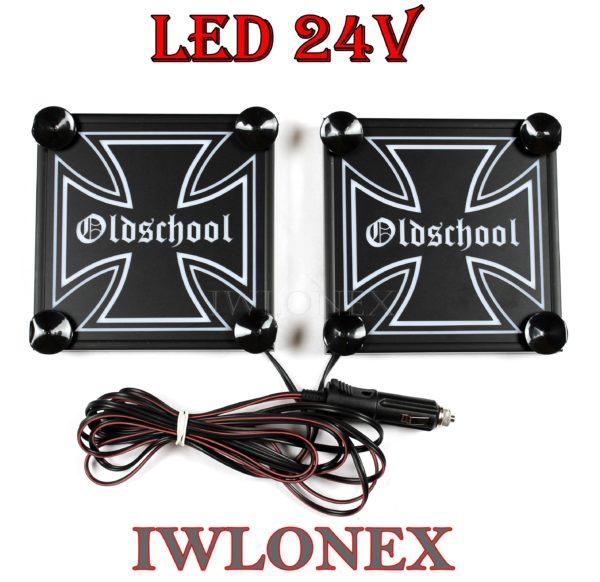 IMG 8625 600x582 - 1 Paar LKW LED Leuchtschilder 24V Eiserne Kreuz