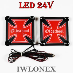 IMG 8629 300x300 - 1 Paar LKW LED Leuchtschilder 24V Eiserne Kreuz