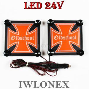 IMG 8635 300x300 - 1 Paar LKW LED Leuchtschilder 24V Eiserne Kreuz