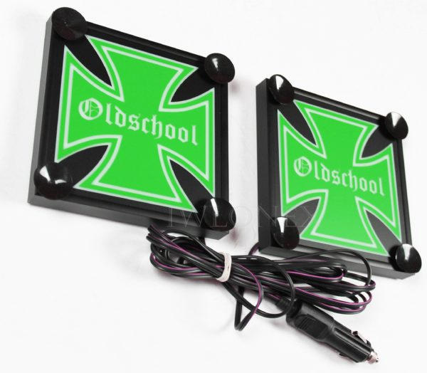 IMG 8642 600x524 - 1 Paar LKW LED Leuchtschilder 24V Eiserne Kreuz