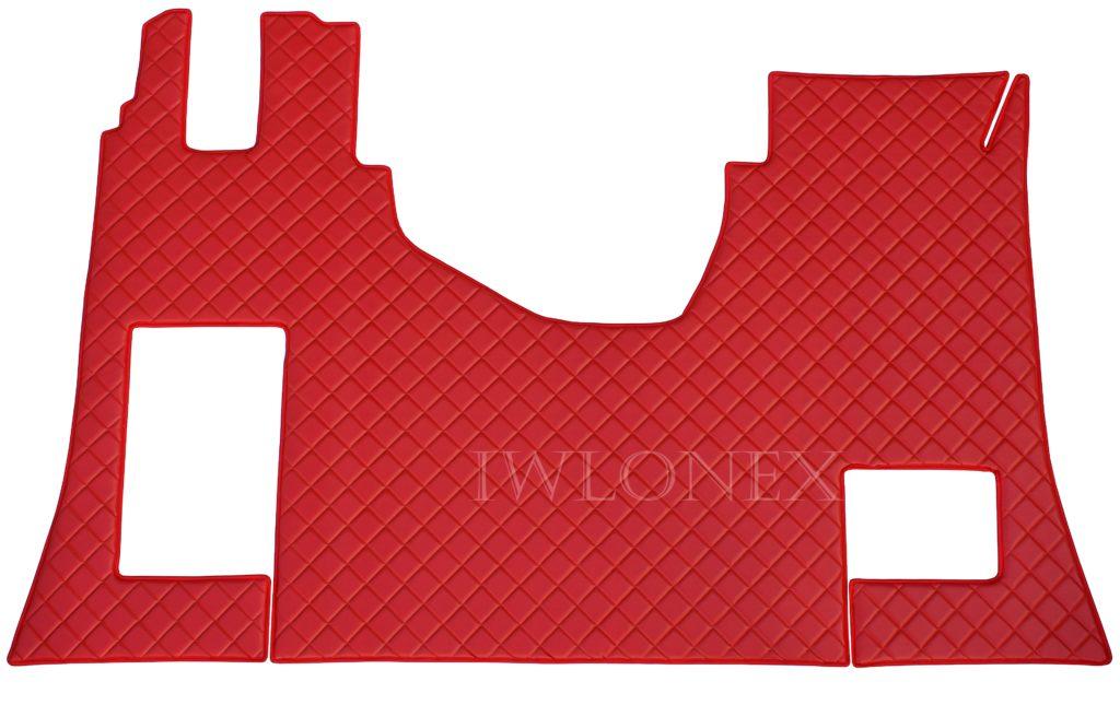 MB MP4 czerwony 2 1024x645 - Fußmatte für MB Actros MP4 Beifahrersitz-Klappbar Rot mit Stickerei