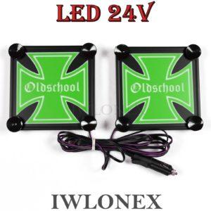 s l1600 300x300 - 1 Paar LKW LED Leuchtschilder 24V Eiserne Kreuz