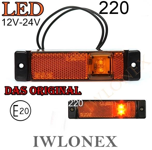 220iwlonex 1 - 1x LED UMRISSLEUCHTE SEITENMARKIERUNGSLEUCHTE 220