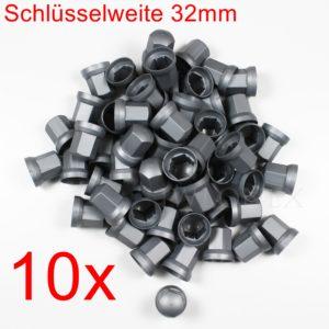 32mm silber 300x300 - 10x RADMUTTERKAPPEN 32mm HÖHE 54mm Grau