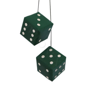Wurfel Punkte grun 300x300 - 2 x LKW Würfel Universal in Farbe Dunkelgrün
