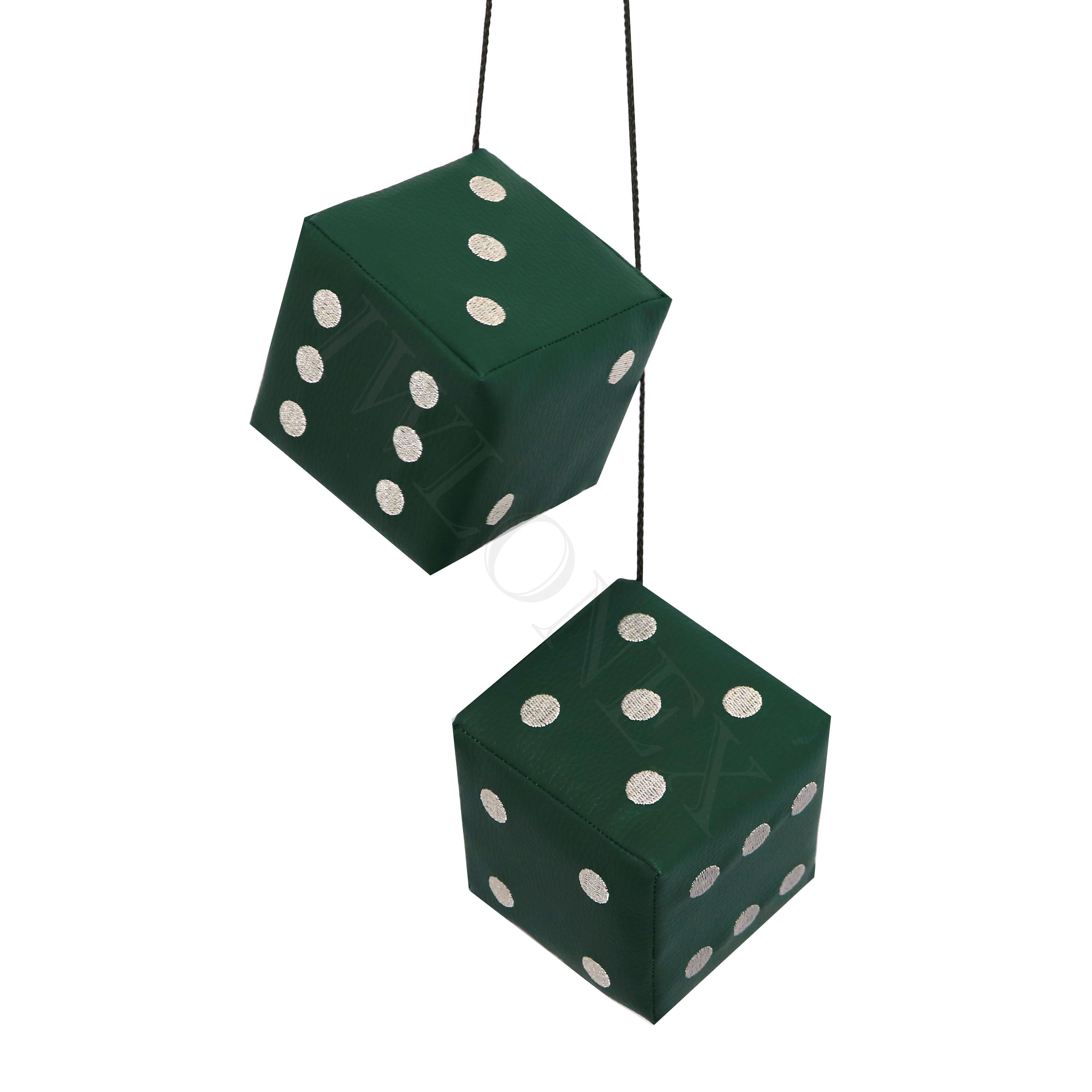 Wurfel Punkte grun - 2 x LKW Würfel Universal in Farbe Dunkelgrün