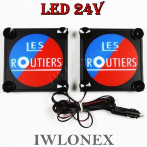 IMG 8579 300x300 - 1 Paar LKW LED Leuchtschilder 24V Frankreich Les Routiers