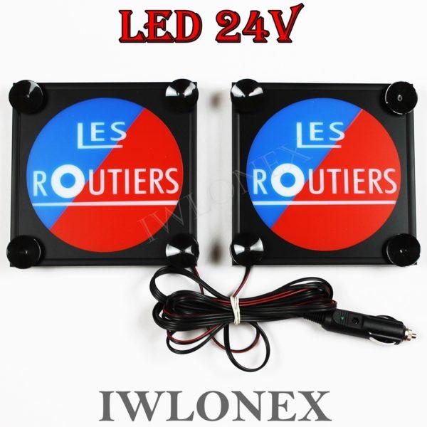 IMG 8579 600x600 - 1 Paar LKW LED Leuchtschilder 24V Frankreich Les Routiers