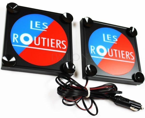 IMG 8581 600x492 - 1 Paar LKW LED Leuchtschilder 24V Frankreich Les Routiers
