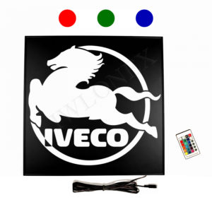 Ruckwandschild fur IVECO LED RGB 300x300 - 1 x LKW LED RGB Rückwandschild für IVECO 24V
