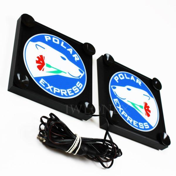 IMG 0520 600x600 - 1 Paar LKW LED Leuchtschilder 24V Polar Express